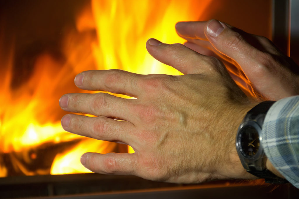 Warming hands
