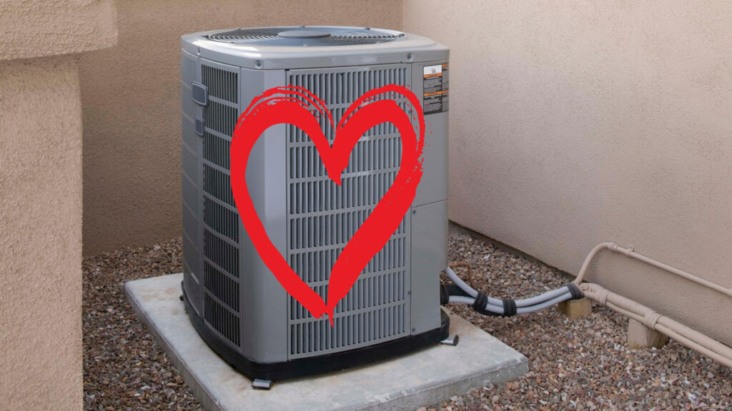 Air conditioner with a heart